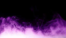 Purple steam on the black background Royalty Free Stock Images