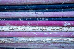 Purple steel pipes Royalty Free Stock Photos