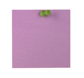 Purple Sticky Note Stock Photo