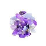 Purple stones isolated stock photos