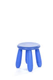 Purple stool. Little purple stool with four legs isolated over white Stock Photography