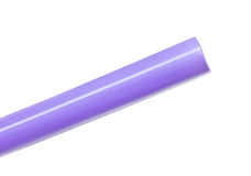Purple straw Stock Photography