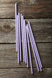 Purple straws Royalty Free Stock Images
