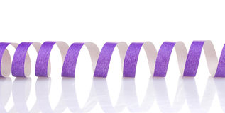 Purple streamer Royalty Free Stock Photography