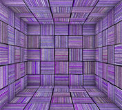 Purple striped square tiled empty space Stock Images