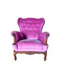 Purple Stylish Chair. Soft Purple Stylish Chair and Isolated Soft Purple Stylish Chair Stock Photography