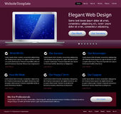 Purple stylish website template Stock Photography