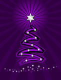 Purple stylized christmas tree Stock Image