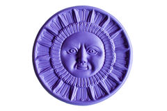 Purple sun royalty free stock image