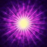 Purple Sun Background Means Bright Radiating Star Stock Images