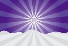 Purple sunrise. Beautiful purple sunrise vector illustration Stock Photos