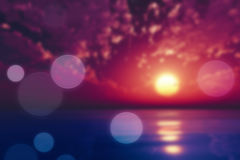 Purple sunset blur Stock Photography