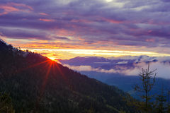 Free Purple Sunset In The Mountains After Storm Stock Image - 95928431