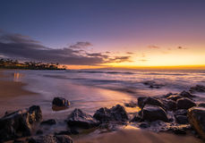 Purple sunset in Maui Hawaii Stock Images