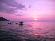 Purple sunset stock photography