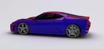 Purple super car Royalty Free Stock Photo
