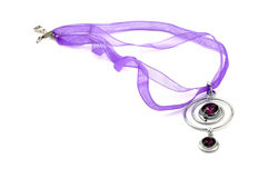 Purple Swarovski Crystal Necklace Stock Image