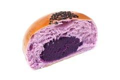 Purple sweet potato bun Royalty Free Stock Photos