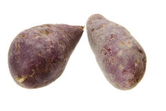 Purple sweet potato. Fresh purple sweet potato isolated on the white background Royalty Free Stock Image