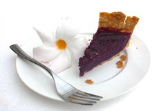 Purple sweet potato (taro) pie Royalty Free Stock Image
