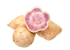 Purple sweet potatoes Stock Image