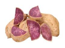 Purple sweet potatoes Stock Photography