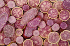 Purple sweet potatoes Royalty Free Stock Images