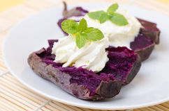 Purple sweet potatoes Stock Images