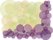 Purple swirl circle background illustration Stock Photos