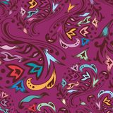 Purple swirl pattern Royalty Free Stock Images