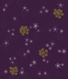 Purple swirls and flowers wallpaper Stock Images