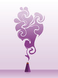 Purple swirly incense Royalty Free Stock Photo