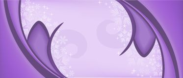 Purple symmetric background. Christmas symmetric purple background with snowflakes and curls Stock Images