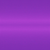 Purple symmetrical geometric halftone square pattern background - vector graphic. From squares in varying sizes Royalty Free Stock Image