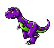 Purple T Rex In A Hurry royalty free illustration