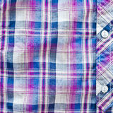 Purple tartan shirt Stock Photo