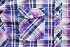 Purple tartan shirt Royalty Free Stock Images