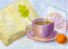 Purple teacup Stock Photo