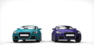 Purple And Teal Car Stock Images