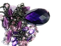 Purple teardrop Stock Image