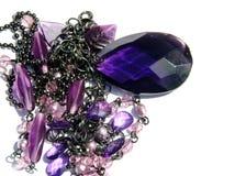 Purple teardrop Stock Image