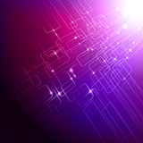 Purple tech background. Modern abstract purple tech background with light effect Royalty Free Stock Photos