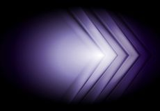 Purple technology background. Big arrows Royalty Free Stock Images