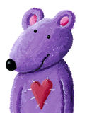 Purple teddy bear vector illustration