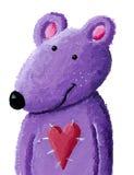 Purple teddy bear Stock Photography