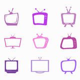 Purple Television Royalty Free Stock Image