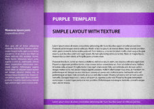 Purple template Stock Images