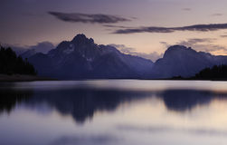 Purple Tetons stock images