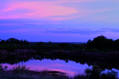 Purple Texas Sunset Royalty Free Stock Images