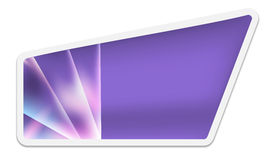 Purple text box Stock Image